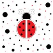 Stock Vector: Red Ladybug