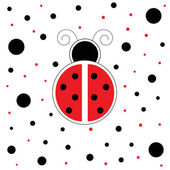 Red Ladybug — Stock Vector