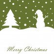 merry christmas card — Vettoriale Stock