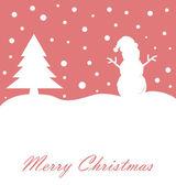 С Рождеством Христовым карта — Cтоковый вектор