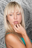 Sensual blond girl with pretty face — Stock Photo