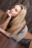 Young gorgeous blond girl — Stock Photo
