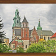Wawel Cathedral on Wawel Hil — Stock Photo