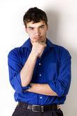 Podobizna mladého muže, — Stock fotografie