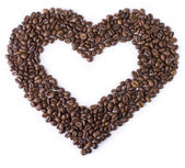 Heart of the coffee beans — Stock Photo