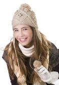 Smiling beautiful girl — Stock Photo