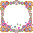 Abstract colorful rainbow frame. Vector illustration — Stock Vector #7622332