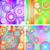 Abstract colorful backgrounds with circles. — Stock Vector