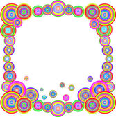 Abstract colorful rainbow frame. Vector illustration — Stock Vector