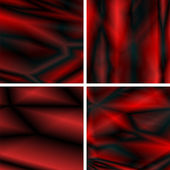 Abstract dynamic red backgrounds on black — Stock Vector