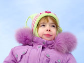 Girl dressed in winter clothes — Stock Photo