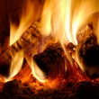 Burning billets — Stock Photo