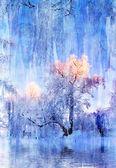 Picture - a winter landscape — Stock Photo