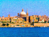 Malta Harbor Valetta — Stock Photo