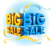 Big sale and graphic background — Stock Vector