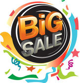 Big sale and festive graphic — Stock Vector