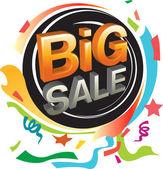 Grande vendita e grafica festiva — Vettoriale Stock