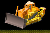 Excavator vector — Stock Vector