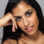 Постер, плакат: Beautiful Young Multiracial Woman Headshot 3