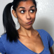 Stock Photo: Beautiful Multiracial Womwith Comical Facial Expression (2)