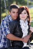 Romantic Couple Outdoors (1) — Stock Photo