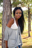 Beautiful Young Woman Outdoors (4) — Stock Photo