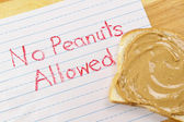 No Peanuts Allowed — Stock Photo