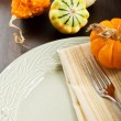 Autumn Table Setting - Stock Photo