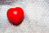 プラスチック泡の心 — ストック写真