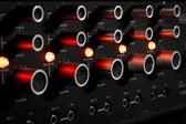 Control panel of a sound mixer — Stock Photo