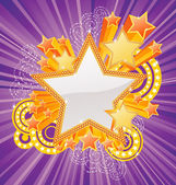 Marquee star — Stock Vector
