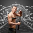 Shaolin monk — Stock Photo