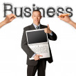word business schets met zakenman — Stockfoto #6849276