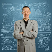 Asian male in suit — Stock Photo