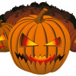 Royalty-Free Stock Vector Image: Angry halloween pumpkin
