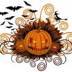 Angry halloween pumpkin — Stock Vector #6927255