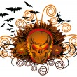 Royalty-Free Stock Vector Image: Angry halloween skull
