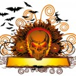 Angry halloween skull — Stock Vector #6927279