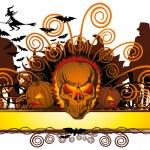 Angry halloween skull and dancing — Stock Vector #6927298