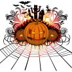 Angry halloween pumpkin — Stock Vector #7007731