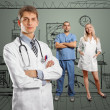 Young doctor man with stethoscope — Foto de Stock