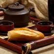 Still life with tea — Stockfoto