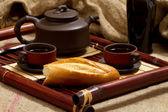 Still life with tea — Stock Photo