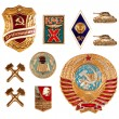 Old soviet badges — Stock Photo #7317920