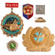 Old soviet badges — Stock Photo