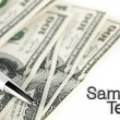 Stock Photo: Abstract dollars background
