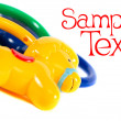 Stock Photo: Toys card
