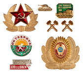 Old soviet badges — Stock Photo