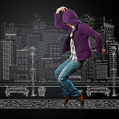 Dance like michael — Stock Photo