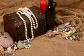 Sea pearls and stones — Stock Photo